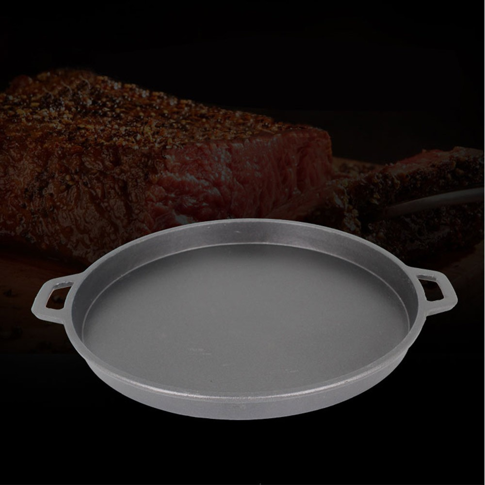 Cast Iron Nonstick Baking Roasting Pan, Universal Food Grade Quick Release Coating Roasting Bakeware Kitchen Gadget Cast
