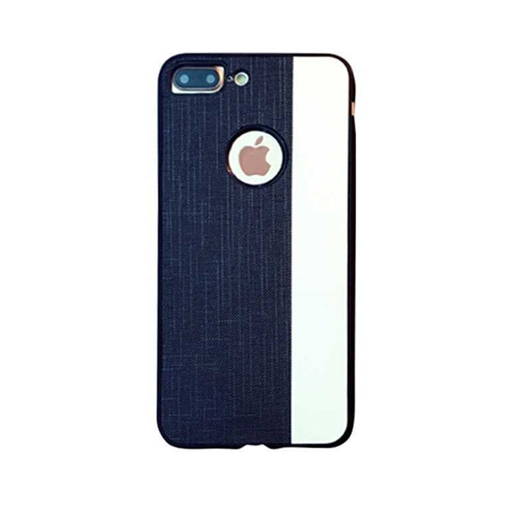Stylish Ultra-thin Stripe Canvas Phone Case, Creative Durable Slim Phone Cover with Hand Strap Compatible for iPhone X, iPhone 8/Plus, iPhone 7/Plus, iPhone 6/6s/6 Plus/6S Plus