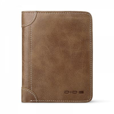 Handmade Folio Genuine Leather Men's Wallet, Foldable First Layer Leather Wallet with Multiple Compartments