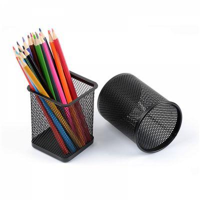 Desktop Pencil Holder Durable Metal Organizer for Pens Clips Scissors, Multipurpose Organizer Office Supplies Home School Office Essential