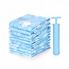 Waterproof Vacuum Storage Bag with Manual Pump, Durable Reusable Large Capacity Thick Household Travel Space Saver for Quilt, Garments, Coats