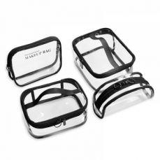 Transparent Makeup Bag Waterproof Cosmetic Bag, Portable Toiletry Bag Travel Hanging Organizer Bag for Women Girls