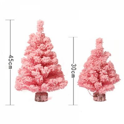 Pink Christmas Ornaments.Pink Christmas Tree For Party Bedroom Desktop Decoration Santa Tree Ornaments Luxurious Emulational Flocking Christmas Tree Stand