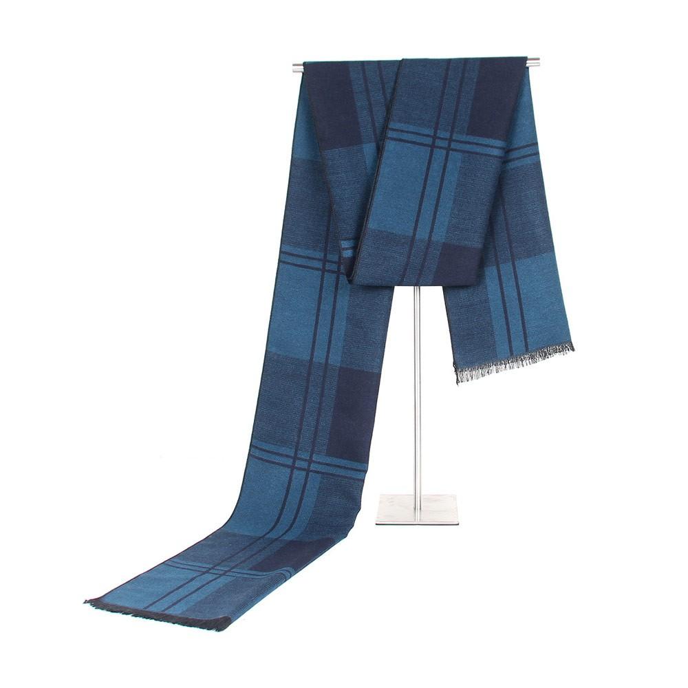 Plaid Men's Scarf, Fashionable Plaid Neckerchief for Business Men, Imitation Cashmere Plaid Scraf  Autumn Winter 2019