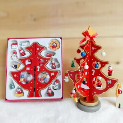 Mini Christmas Tree Ornaments.Small Christmas Tree Stand With Storage Box Diy Wood Christmas Tree Ornaments For Hotel Restaurant Office Chain Shore Decoration