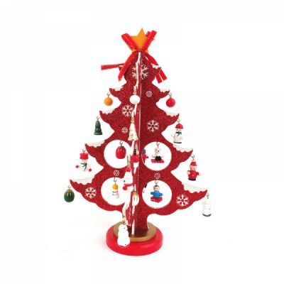 Wood Christmas Tree for Christmas Party, Home, Restaurant, Shop, Office, School Decoration, Wooden Christmas Tree Ornament Craft