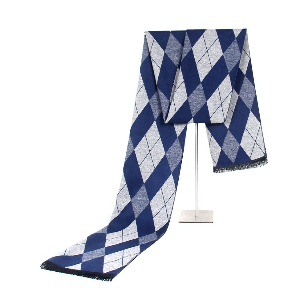Gentleman Plaid Scarf for Early Spring, Autumn, Winter, Superior Imitation Cashmere Scarf for Men Perfect Gift