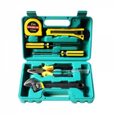 Household Hand Tools Set, 8 PCS Tools Set, Strong Hand Tools, Home Repair Tool Set, Hand Tool Kit with Plastic Tool Box, Car kits