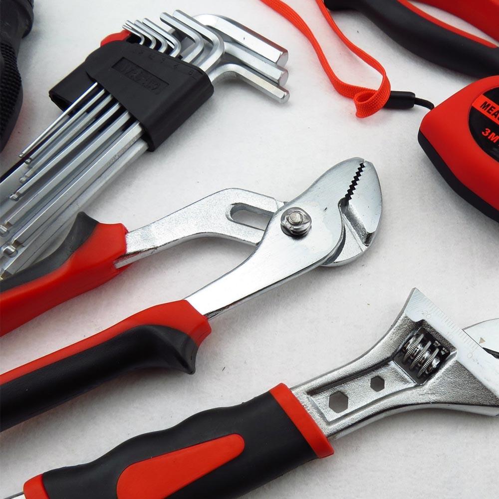 Household Hand Tools Set, Home Repair Tool Set Hand Tool Kit with Plastic Tool Box, Car kits