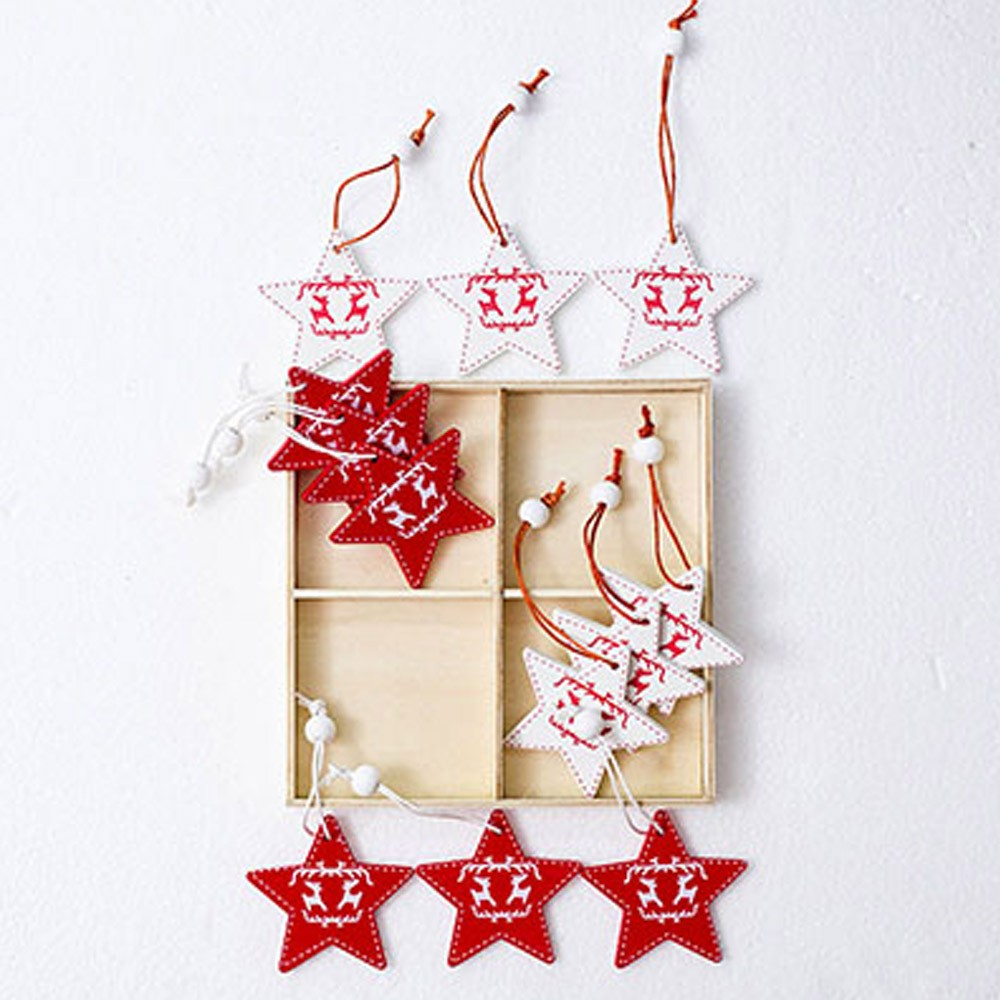 Wooden Christmas Ornaments for Christmas, Valentine's Day, Wedding, Birthday, New Year, Lovely Wood Christmas Decoration Accessories