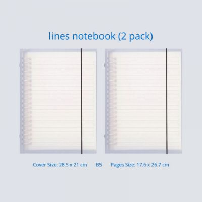 Journals To Write In - Office Supplies Universal Student Detachable Notebook with 100 Replaceable Paper,  2 Pack Personal Journals