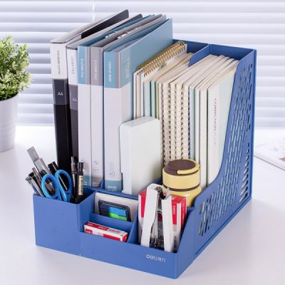 Universal File Organizer for Documents, Tickets, Home & School File, Practical Desktop Documents Storage Holder Office Supplies