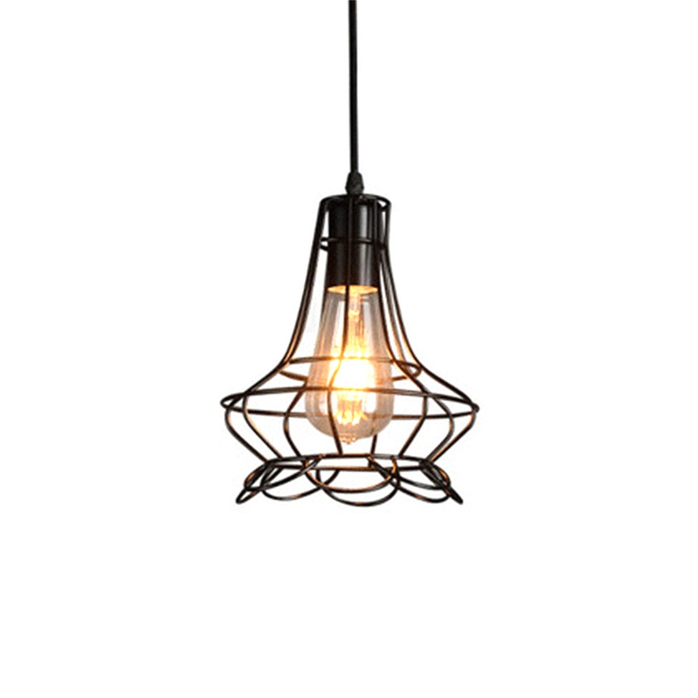 Iron Chandelier For Living Room, Retro Iron Chandelier LED Light, Single Head Lamp, Contracted Lamp, Creative Lamp